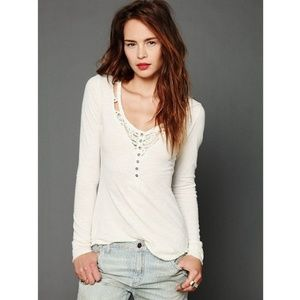 {Free People} We the Free Lou Legacy Henley White